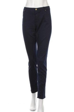 Дамски панталон H&M, Размер XL, Цвят Син, 59% памук, 39% полиестер, 2% еластан, Цена 33,60лв.