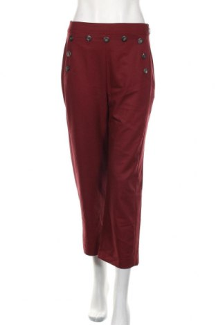 Damskie spodnie Mango, Rozmiar M, Kolor Czerwony, 62% poliester, 33% wiskoza, 5% elastyna, Cena 76,80zł