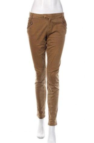 Дамски панталон Massimo Dutti, Размер L, Цвят Кафяв, 97% памук, 3% еластан, Цена 36,75лв.