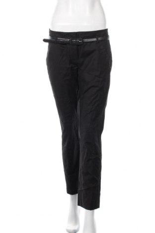 Дамски панталон Sportmax, Размер M, Цвят Черен, 96% памук, 4% еластан, Цена 91,77лв.