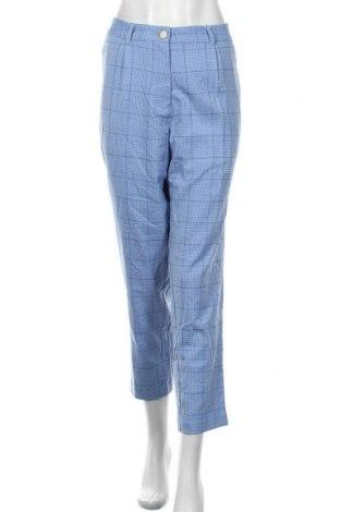 Pantaloni de femei Tom Tailor, Mărime L, Culoare Albastru, 63% poliester, 34% viscoză, 3% elastan, Preț 187,90 Lei