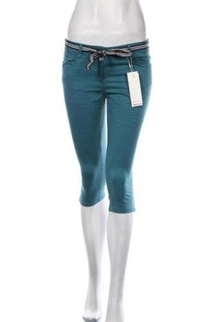 Pantaloni de femei Tom Tailor, Mărime S, Culoare Albastru, 97% bumbac, 3% elastan, Preț 136,18 Lei