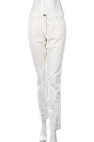 Damskie spodnie Tom Tailor, Rozmiar L, Kolor ecru, 97% bawełna, 3% elastyna, Cena 114,00zł