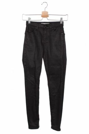 Дамски панталон Topshop Moto, Размер XS, Цвят Черен, 88% памук, 9% полиестер, 3% еластан, Цена 18,90лв.