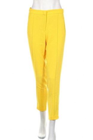 Damskie spodnie Zara Trafaluc, Rozmiar S, Kolor Żółty, 95% poliester, 5% elastyna, Cena 91,20zł