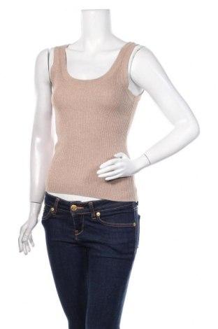 Γυναικείο αμάνικο μπλουζάκι H&M, Μέγεθος S, Χρώμα  Μπέζ, 70% βισκόζη, 30% πολυαμίδη, Τιμή 9,74€