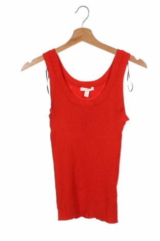 Γυναικείο αμάνικο μπλουζάκι H&M, Μέγεθος XS, Χρώμα Κόκκινο, 70% βισκόζη, 30% πολυαμίδη, Τιμή 9,74€