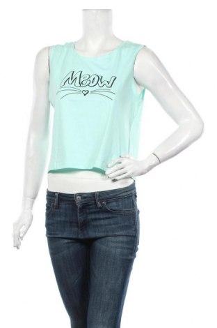 Tricou de damă MyMO, Mărime L, Culoare Albastru, Bumbac, Preț 47,37 Lei