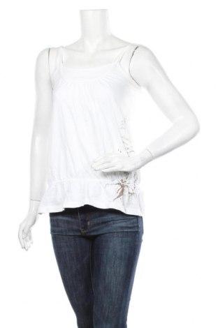 Damska koszulka na ramiączkach Tom Tailor, Rozmiar M, Kolor Biały, Bawełna, Cena 72,00zł