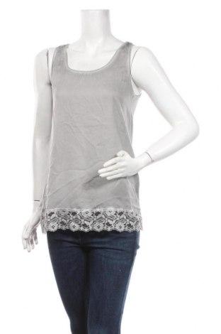 Damska koszulka na ramiączkach Tom Tailor, Rozmiar XS, Kolor Szary, 95% wiskoza, 5% elastyna, Cena 63,00zł