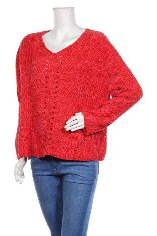 Дамски пуловер Amisu, Размер L, Цвят Червен, Цена 29,40лв.