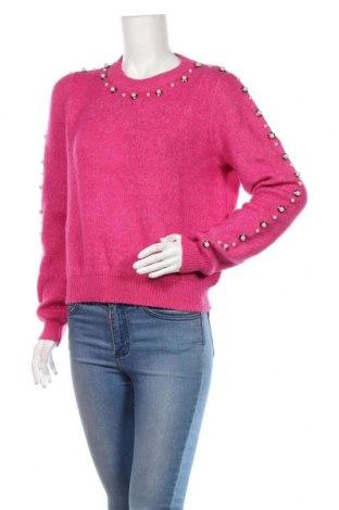 Pulover de femei Faina, Mărime L, Culoare Roz, 75%acril, 12% poliester, 10% poliamidă, 3% elastan, Preț 135,86 Lei