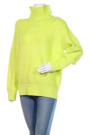 Pulover de femei Mo, Mărime L, Culoare Verde, 77%acril, 20% poliamidă, 3% elastan, Preț 128,29 Lei