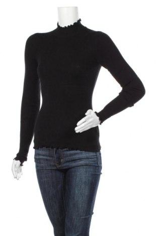 Дамски пуловер Review, Размер XS, Цвят Черен, 48% вискоза, 27% полиестер, 18% полиамид, 7% лен, Цена 42,00лв.