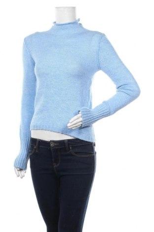 Дамски пуловер United Colors Of Benetton, Размер M, Цвят Син, 64% акрил, 26% вълна, 10% полиестер, Цена 61,95лв.