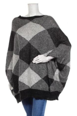 Дамски пуловер United Colors Of Benetton, Размер M, Цвят Сив, 40% акрил, 30% мохер, 30% полиамид, Цена 44,10лв.