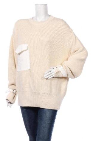 Pulover de femei Zara, Mărime M, Culoare Ecru, Preț 106,11 Lei