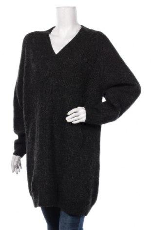 Pulover de femei Zara Knitwear, Mărime M, Culoare Gri, 64%acril, 16% poliamidă, 13% poliester, 4% lână, 3% elastan, Preț 139,26 Lei