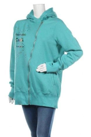 Дамски суичър MyMO, Размер XL, Цвят Син, 65% полиестер, 35% памук, Цена 37,40лв.
