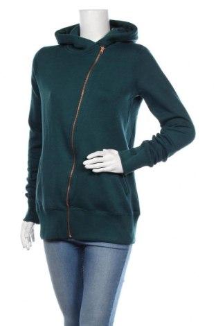 Дамски суичър MyMO, Размер S, Цвят Зелен, 65% полиестер, 35% памук, Цена 66,75лв.