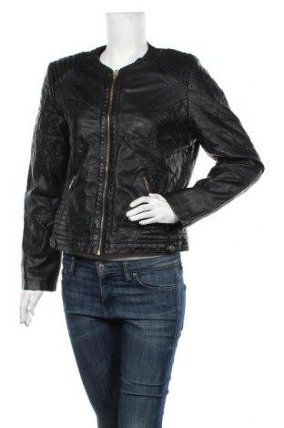 Дамско кожено яке Atmosphere, Размер M, Цвят Черен, Еко кожа, Цена 38,90лв.