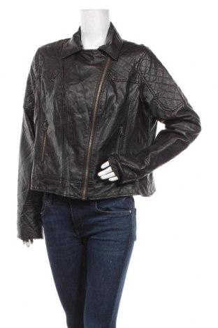 Дамско кожено яке Atmosphere, Размер XL, Цвят Черен, Еко кожа, Цена 35,91лв.
