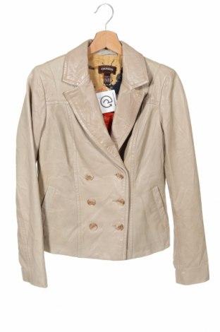 Дамско кожено яке Danier, Размер XS, Цвят Бежов, Естествена кожа, Цена 128,68лв.