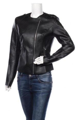 Дамско кожено яке Guess, Размер L, Цвят Черен, Еко кожа, текстил, Цена 216,75лв.