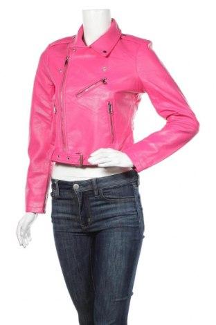 Dámská kožená bunda  Pimkie, Velikost S, Barva Růžová, Eko kůže, Cena  750,00Kč