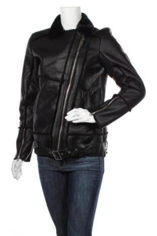 Dámská kožená bunda  Robin Schulz by S.Oliver, Velikost S, Barva Černá, Eko kůže, Cena  1783,00Kč