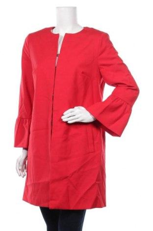 Дамско палто Comma,, Размер L, Цвят Червен, 56% памук, 31% полиестер, 13% еластан, Цена 194,25лв.