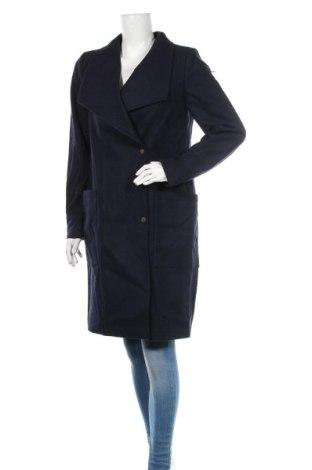 Дамско палто Dreimaster, Размер M, Цвят Син, 38% вълна, 32% полиестер, 14% полиакрил, 6% полиамид, 5% памук, 5% вискоза, Цена 134,25лв.