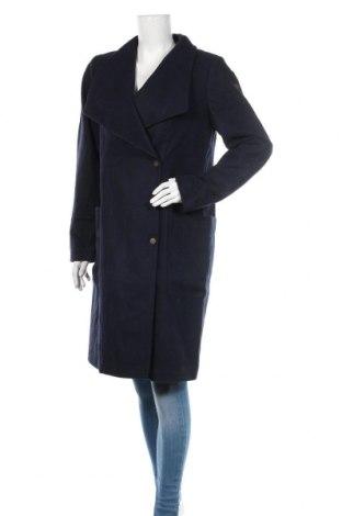 Дамско палто Dreimaster, Размер L, Цвят Син, 38% вълна, 32% полиестер, 14% полиакрил, 6% полиамид, 5% памук, 5% вискоза, Цена 134,25лв.