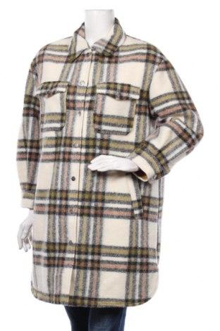 Damski płaszcz Promod, Rozmiar S, Kolor Kolorowy, 76% poliester, 23% wełna, 1%akryl, Cena 298,13zł