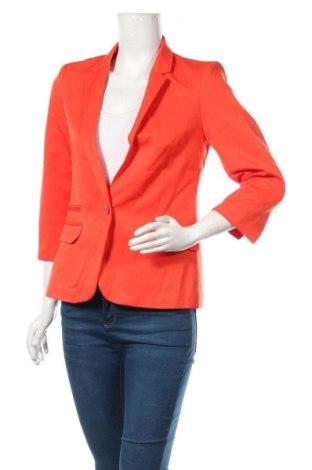 Дамско сако Amisu, Размер M, Цвят Оранжев, 78% полиестер, 20% вискоза, 2% еластан, Цена 29,40лв.