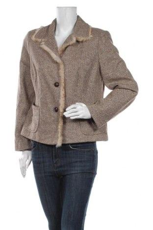 Дамско сако Apriori, Размер L, Цвят Бежов, 59% памук, 30% полиамид, 10% коприна, 1% еластан, естествен косъм, Цена 37,80лв.