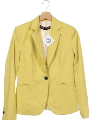 Sacou de femei Zara, Mărime XS, Culoare Galben, Poliester, Preț 139,26 Lei