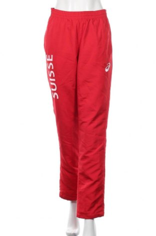 Дамско спортно долнище ASICS, Размер M, Цвят Червен, Полиестер, Цена 29,40лв.