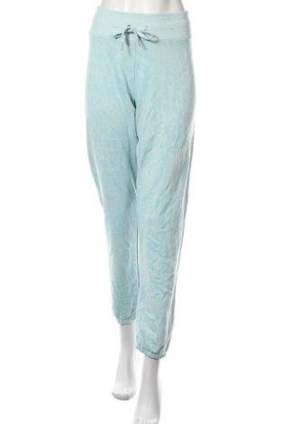 Pantaloni trening de femei Calvin Klein, Mărime L, Culoare Albastru, 60% bumbac, 40% poliester, Preț 129,32 Lei