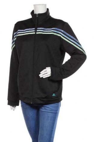 Дамско спортно горнище Adidas, Размер XL, Цвят Черен, 100% полиестер, Цена 33,60лв.