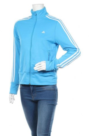 Дамско спортно горнище Adidas, Размер M, Цвят Син, Полиестер, Цена 33,60лв.
