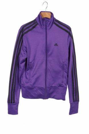 Дамско спортно горнище Adidas, Размер XS, Цвят Лилав, Полиестер, Цена 29,40лв.