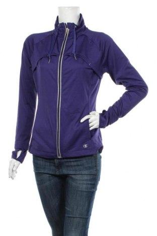 Bluză trening de femei Champion, Mărime M, Culoare Albastru, 94% poliester, 6% elastan, Preț 76,26 Lei