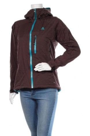 Дамско спортно яке Adidas, Размер M, Цвят Кафяв, 100% полиамид, Цена 71,40лв.