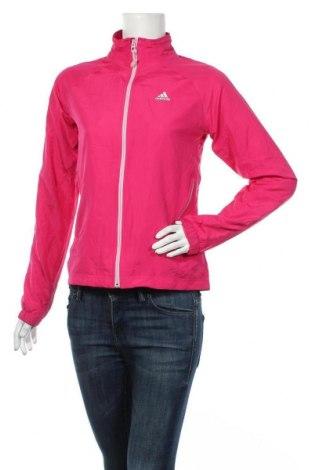 Дамско спортно яке Adidas, Размер S, Цвят Розов, 100% полиестер, Цена 36,75лв.