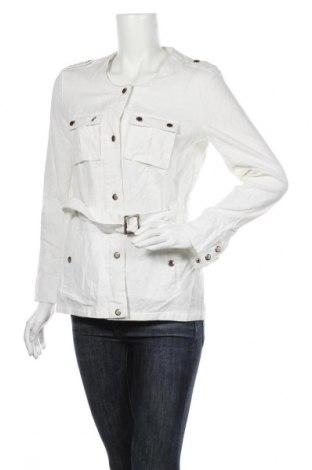 Γυναικείο μπουφάν Cache Cache, Μέγεθος S, Χρώμα Λευκό, 55% λινό, 45% βαμβάκι, Τιμή 23,12€