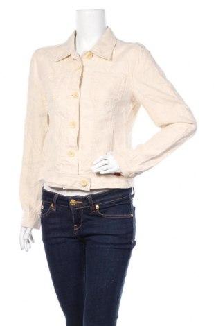 Γυναικείο μπουφάν Esprit, Μέγεθος M, Χρώμα Εκρού, Λινό, Τιμή 20,88€
