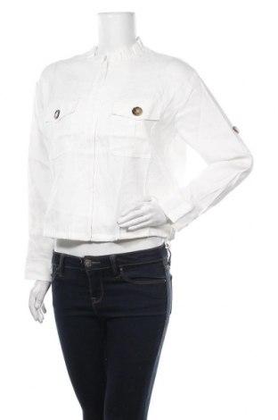 Γυναικείο μπουφάν Marc Cain, Μέγεθος M, Χρώμα Λευκό, 59% λινό, 39% βισκόζη, 2% ελαστάνη, Τιμή 151,19€