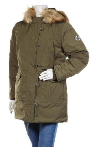 Дамско яке Pepe Jeans, Размер M, Цвят Зелен, Полиестер, пух и пера, Цена 175,05лв.