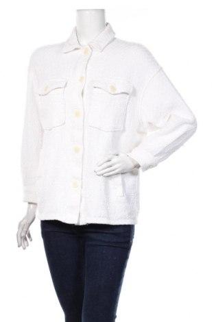 Дамско яке Zara, Размер S, Цвят Бял, Памук, Цена 39,00лв.